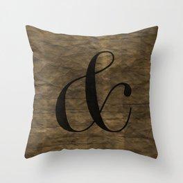 Didot Ampersand Throw Pillow