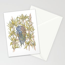 Nicobar pigeon in watercolour Stationery Cards