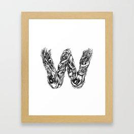 The Illustrated W Framed Art Print
