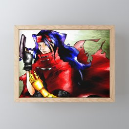 Vincent Valentine FFVII Framed Mini Art Print