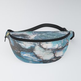 Turquoise Blue Marble Fanny Pack