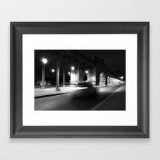 Fast driving in Paris Framed Art Print