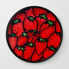 Strawberry jamboree Wall Clock