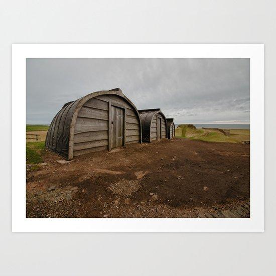 Lindisfarne Offices Art Print