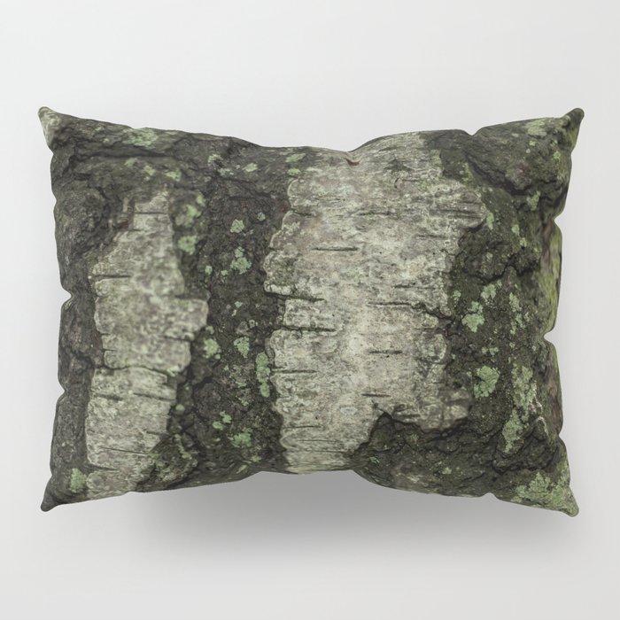 Birch Bark With Moss Pillow Sham