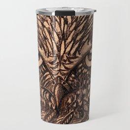 Fierce Brown Owl Travel Mug