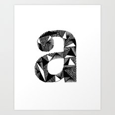 A is for Art Print