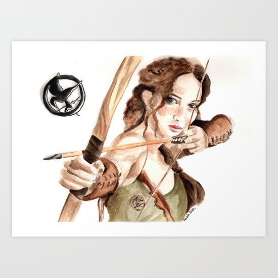 Mockingjay. Katniss Everdeen. Art Print