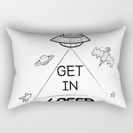 Get in loser - alien tee shirts! Rectangular Pillow