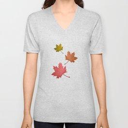 Falling Leaves Unisex V-Neck