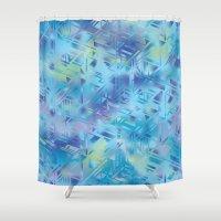 hologram Shower Curtains featuring Hologram by Marta Olga Klara