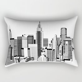 New York Black and White 2 Rectangular Pillow