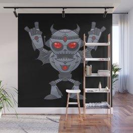 Metalhead - Heavy Metal Robot Devil Wall Mural