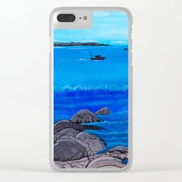 Thatcher island lighthouses Clear iPhone Case