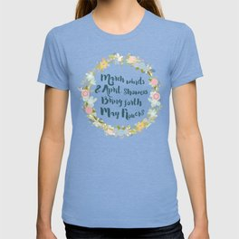 May Flowers brush script T-shirt