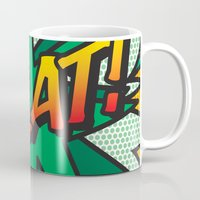 comic book Mugs featuring Comic Book SPLAT! by Thisisnotme