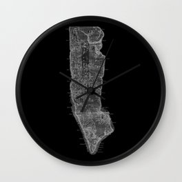 Vintage Manhattan Red Wall Clock