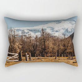 Mountain from the base of the thundering hill Rectangular Pillow