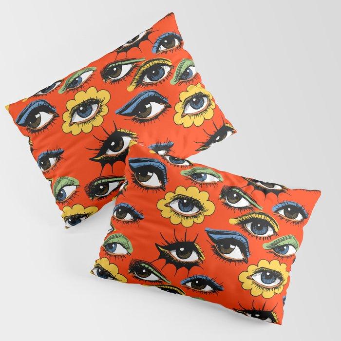 60s Eye Pattern Kissenbezug
