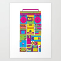 90s Art Prints featuring 90s by sknny