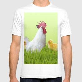 Roaster Chicken Grass - Eastern Festive Design T-shirt
