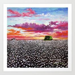 Harvest Sunset Art Print