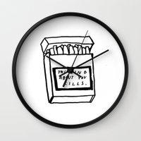 SMOKING ABOUT YOU Wall Clock