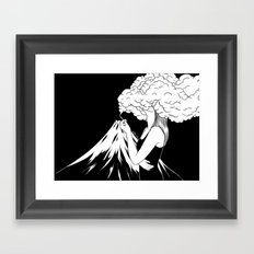Head in the Clouds Framed Art Print