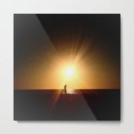 Sunset Tech Metal Print
