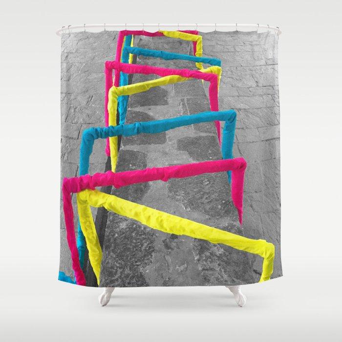 Noise Lines Shower Curtain