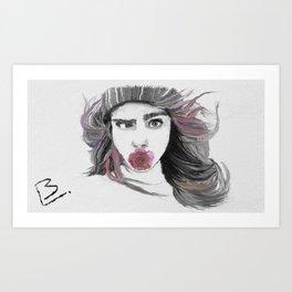 crazy Cara Art Print