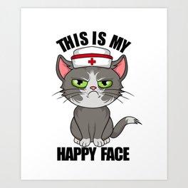 this is my happy face vintage nurse 2020 Art Print