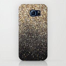 Black & Gold Sparkle iPhone Case