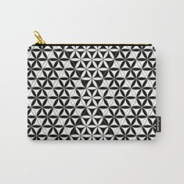 Flower of Life Black White Pattern 8 Carry-All Pouch