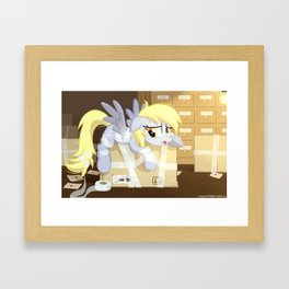 MLP Derpy Framed Art Print