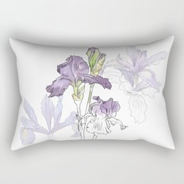 Iris - Flower botanical illustration Rectangular Pillow