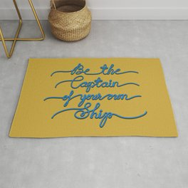 Be the Captain of your own Ship (Yellow and Blue) Rug