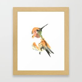 Spirit Orange Framed Art Print