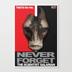 NEVER FORGET - Mordin Solus- Mass Effect Canvas Print
