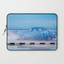 Waves and Classic Cars of the Malecón - 2 Laptop Sleeve