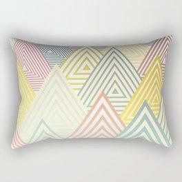 Pastel Mountains Rectangular Pillow