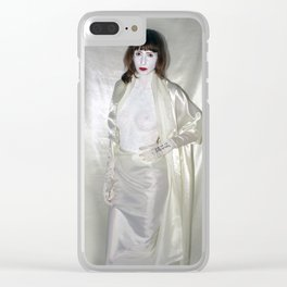 """say no to patriarchy / """"the fashion"""" Clear iPhone Case"""
