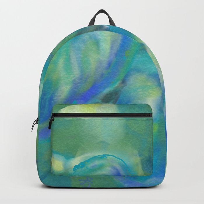 Green and White Spring Leaves Backpack