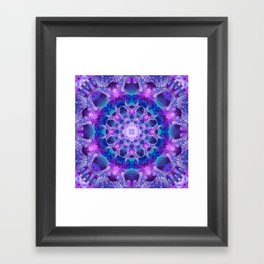 Angelic Gateway Mandala Framed Art Print