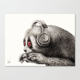 DJ SLOW LORIS Canvas Print