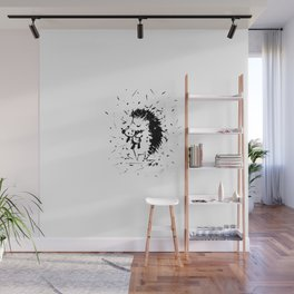 Adorable Hedgehog No.2a by Kathy Morton Stanion Wall Mural