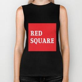 Red Square Biker Tank