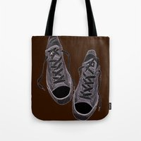 converse Tote Bags featuring Converse by maeveelectro