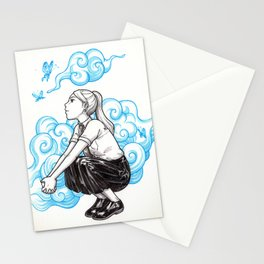 Elemental Schoolgirls  -  Clouds Stationery Cards