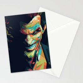 Joker Pop Art Portrait Stationery Cards